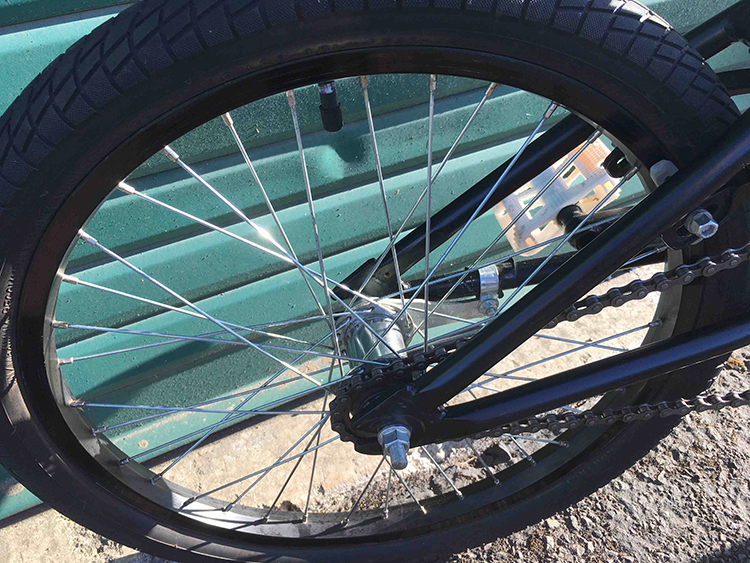 Haro 200.2 BMX bike rear wheel