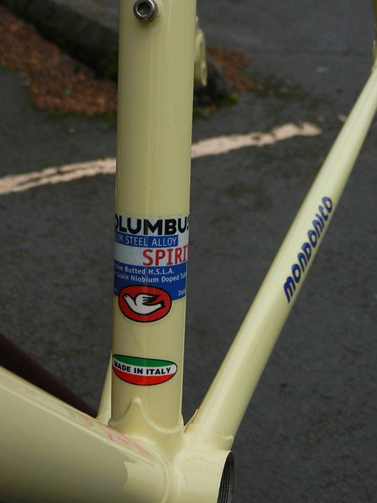 Bicycle Columbus SPIRIT Niobium Steel Alloy Frame Decal Sticker Italy