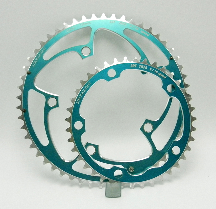 Stronglight Turquoise chainring