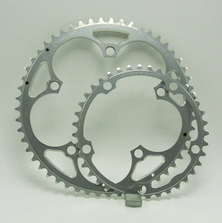 Stronglight silver chainrings