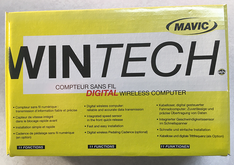 Mavic Wintech box