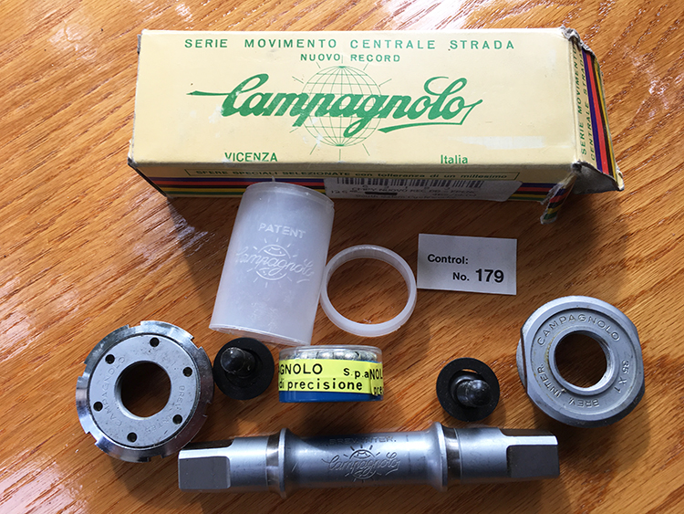 Campagnolo Nuovo Record french-threaded bottom bracket