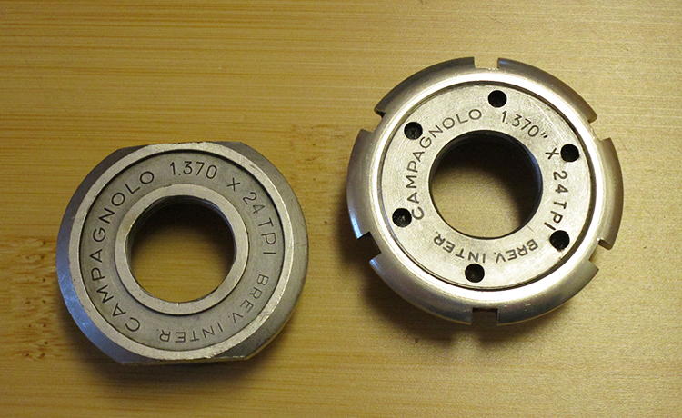 Campagnolo English Nuovo Record bottom bracket cups