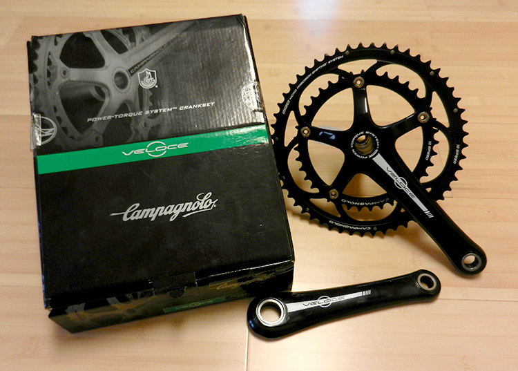New Campagnolo Veloce Black Ultra-Torque 10 Speed 39//53 Crankset 175mm
