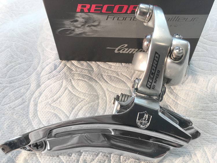 New 2004 Campagnolo Veloce Silver 3x Front Derailleur 32mm Triple Clamp on