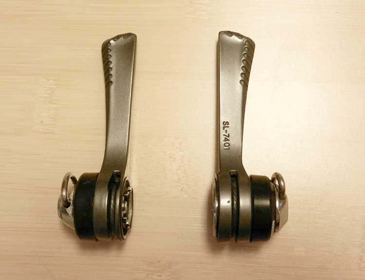 Shimano Dura-Ace downtube shift levers