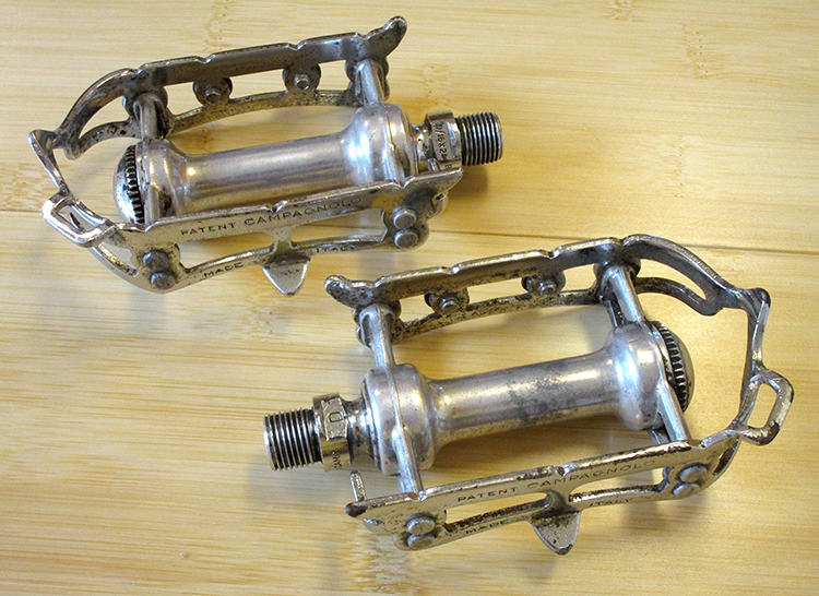 Campagnolo steel record pedals