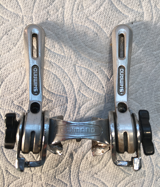 Altus downtube friction shifters