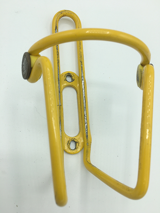 Elite Ciussi yellow water bottle cage