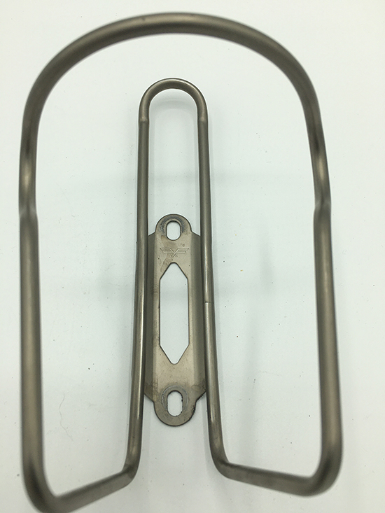 Stainless water bottle cage