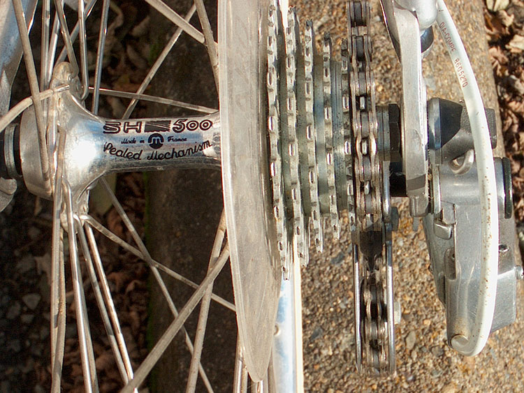 Rear hub and cluster