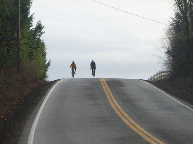 Riders at hill crest