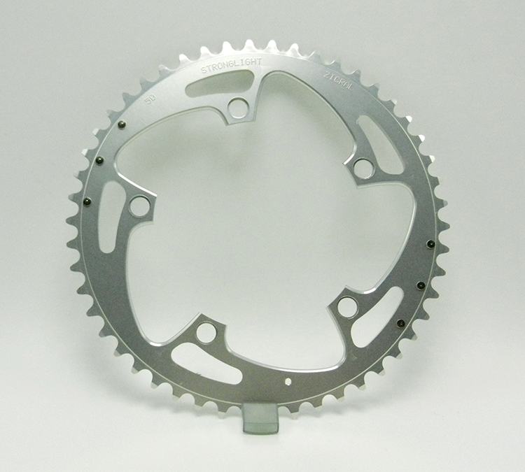 Stronglight 50-tooth silver chainring