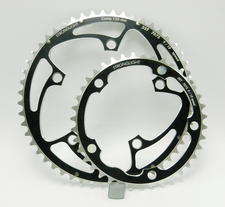 Stronglight black chainring set