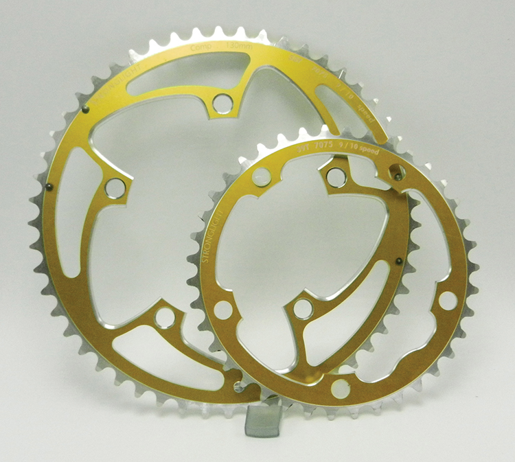 Stronglight gold chainrings