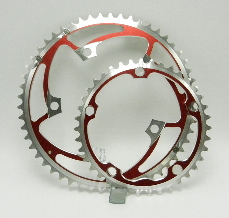 Stronglight red chainrings