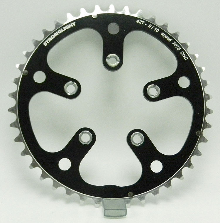 Stronglight triple conversion chainring
