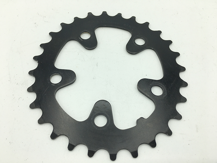 Steel 28-tooth biopace chainring