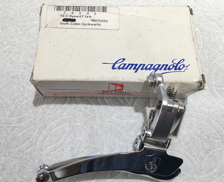 Campagnolo Record C front brazxe on derailleur